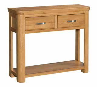 Trevi Oak Large Console Table