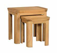 Trevi Oak Nest of 2 Tables