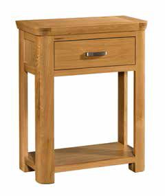 Trevi Oak Small Console Table