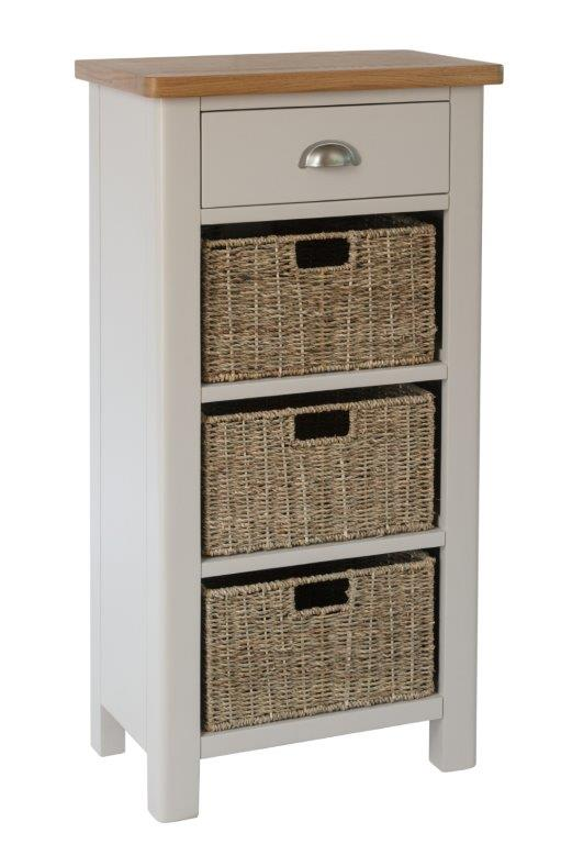 Malvern 1 Drawer 3 Basket Unit
